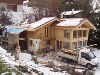 Doggwiller Architecte-Sion-transformation chalet existant en cours